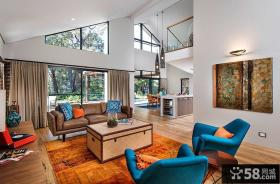 北欧风格复式房屋室内色彩装修效果图