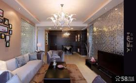 现代客厅吊顶造型效果图