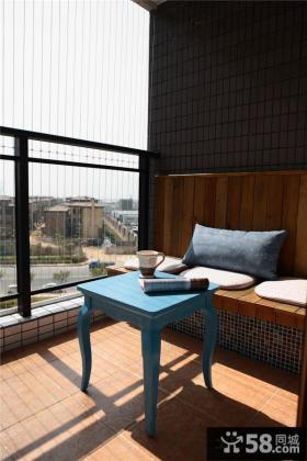 地中海风格家装阳台设计效果图