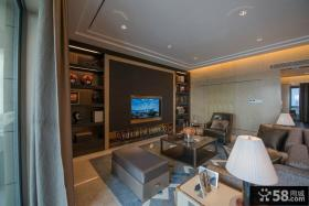 美式新古典客厅电视背景墙图片欣赏