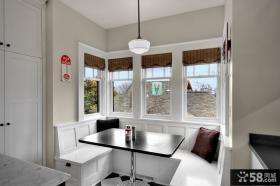 美式乡村风格别墅装修餐厅飘窗装修效果图