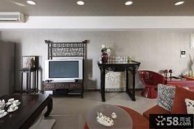 客厅电视背景墙效果图中式