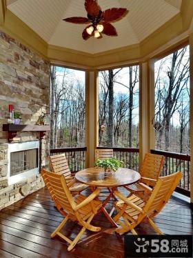别墅圆形阳台装修设计图片