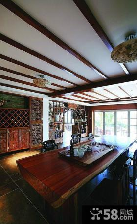 休闲古典中式家装茶室设计