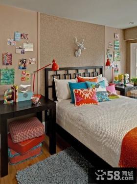 优质的欧式暖色调公主卧室设计 卧室照片背景墙装修