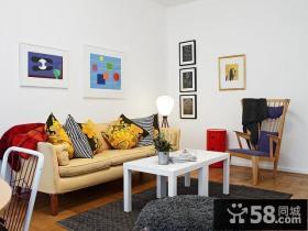 65㎡小户型青春明朗的客厅装修效果图大全2014图片