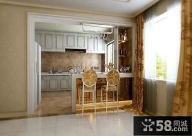 最新欧式厨房吧台装修设计效果图