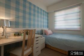 清新休闲美式卧室设计效果图
