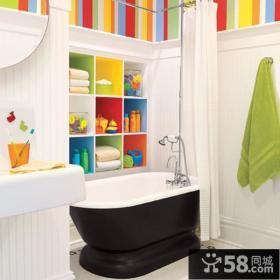 90平小户型时尚创意卫生间装修效果图大全2014图片