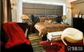 欧式风格卧室床头软包皮背景墙