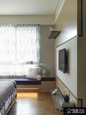 宜家卧室飘窗设计
