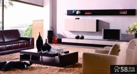 家庭室内客厅电视背景墙效果图