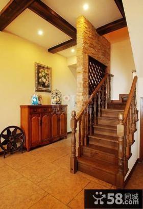 美式小复式楼梯装修效果图