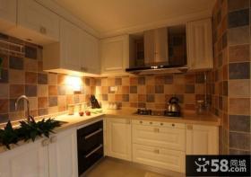 厨房欧式实木橱柜效果图欣赏