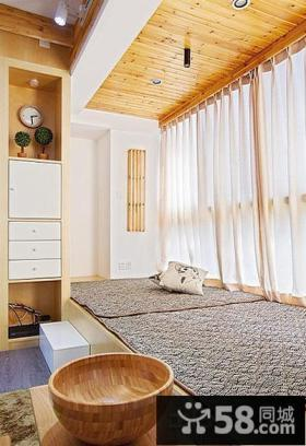 日式风格家居阳台榻榻米装修图片欣赏