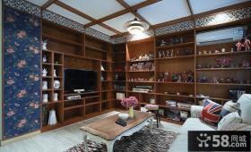 美式风格客厅有梁吊顶效果图欣赏