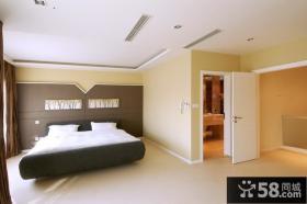 现代风格别墅主卧室装修效果图
