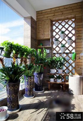 现代都市阳台装潢布置