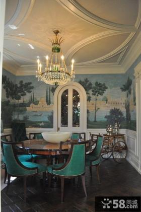 家庭餐厅壁画图片