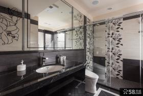 欧式现代别墅卫生间设计效果图片