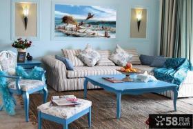蓝色清新的地中海风格装修图片