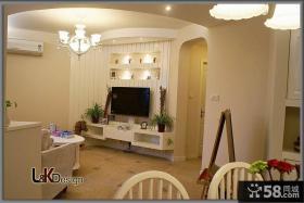 简约小客厅电视背景墙装修效果图大全
