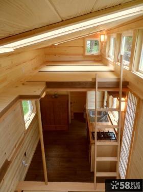 日式简装小复式楼房室内装修效果图
