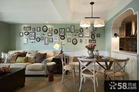 美式风格一居室内装修图片大全