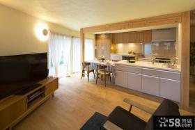 日式简约风格室内厨房装修效果图大全