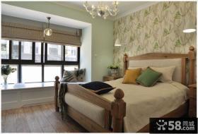 美式装修带飘窗卧室装修设计