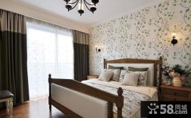 田园美式设计小户型卧室装修效果图