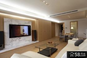 美式风格三居室简约家居效果图