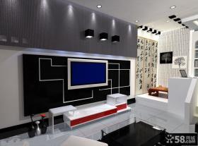 现代家庭装修电视背景墙