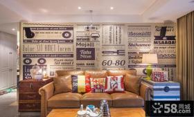 客厅沙发背景墙绘装修效果图