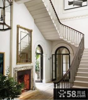 复式楼旋转楼梯设计图片