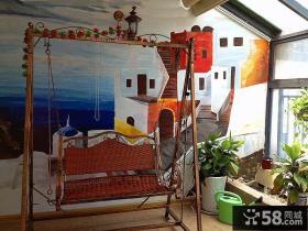 阳台墙体彩绘装饰效果图