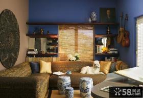 115平米三室两厅小客厅沙发背景墙装修效果图大全2012图片