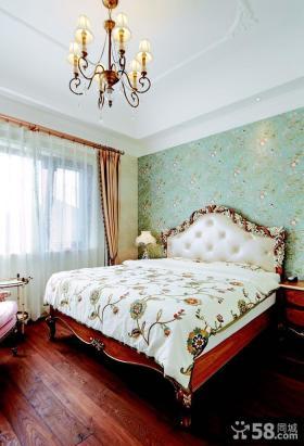 美式田园风格复式楼卧室装修效果图