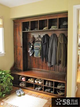 新古典风格入户花园鞋柜效果图