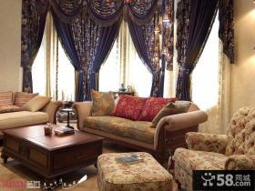 欧式风格别墅客厅电视柜装修效果图