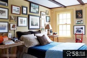 简欧风格卧室照片墙图片