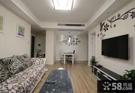 家居室内客厅电视背景墙装修图