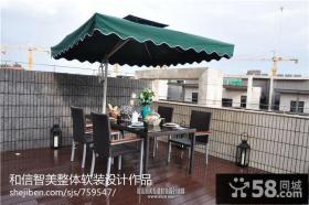 别墅顶层露天阳台设计效果图