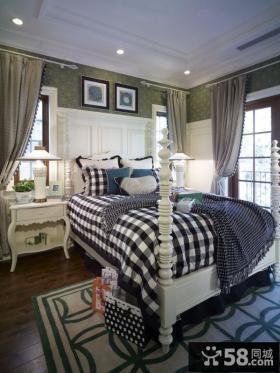 美式乡村卧室设计图片欣赏大全