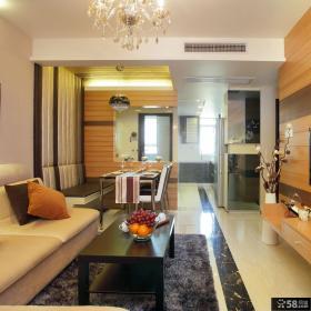 美式风格小户型客厅图