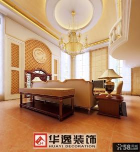 别墅客厅吊顶灯装饰图片
