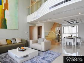 现代风格别墅挑高客厅效果图
