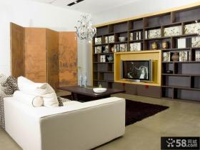 客厅电视组合柜效果图