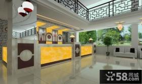 中式传统风格饭店吧台装修设计效果图