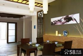 中式餐厅装饰画效果图大全